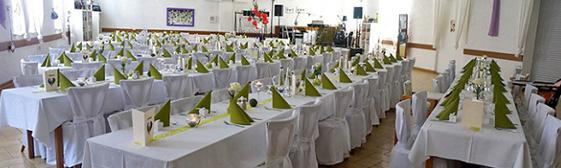 Hochzeitsdeko grün weiß