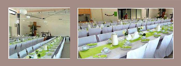 Tischdeko Hochzeit - Raumdeko