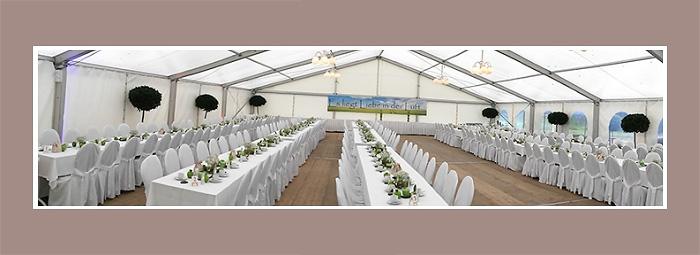 Hochzeitsdeko Zelt