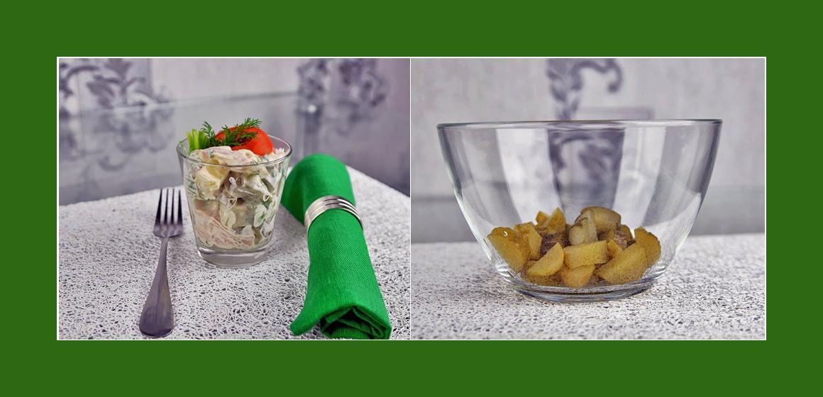Kartoffelsalat mit Erbsen