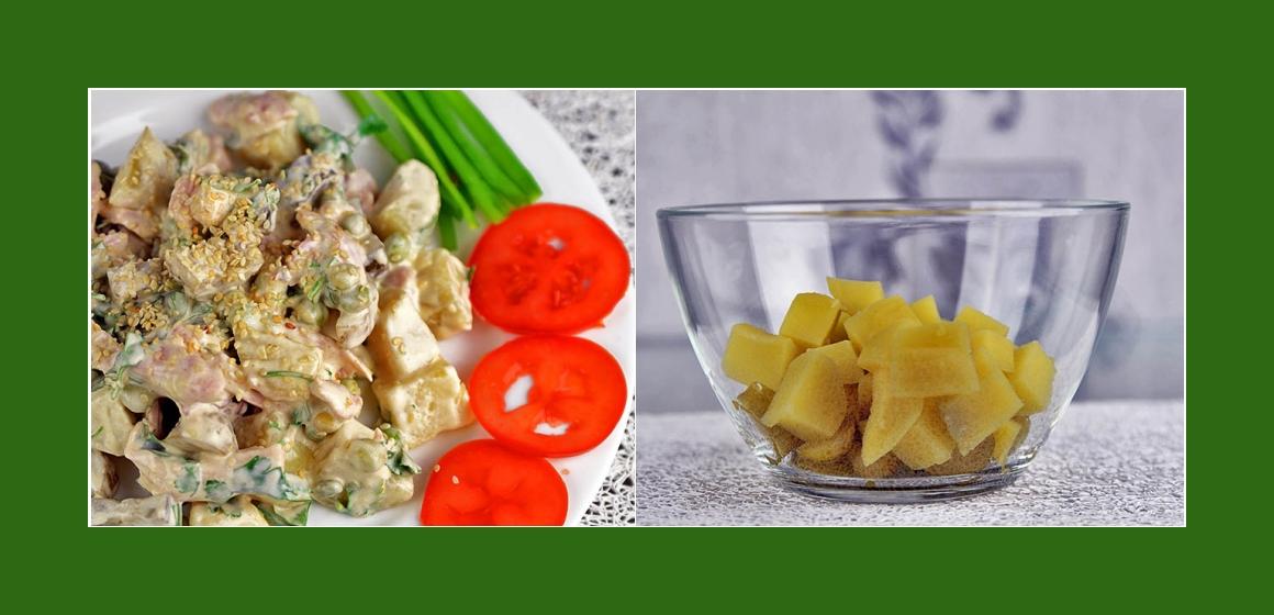 Kartoffelsalat Gurken Erbsen
