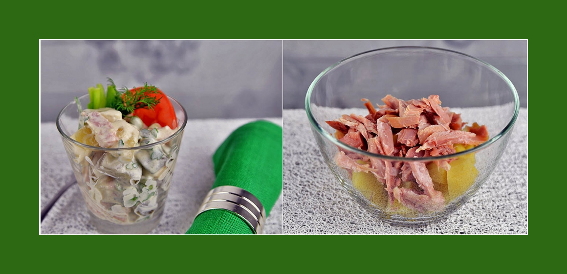 Hähnchensalat mit Erbsen