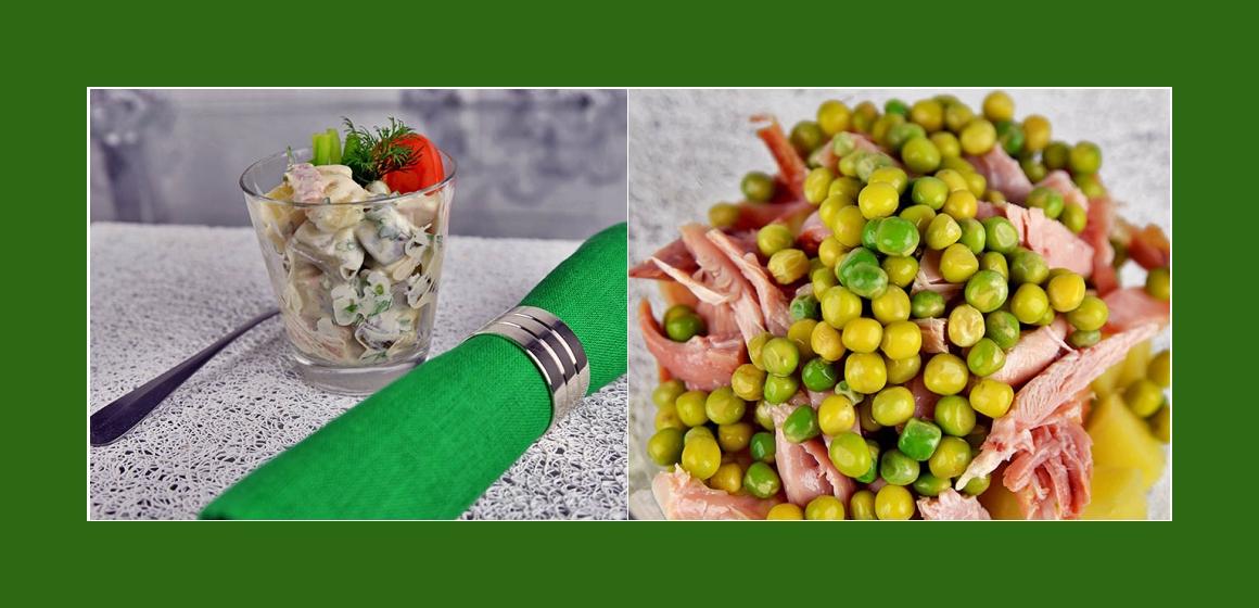 Gemüsesalat Hähnchensalt