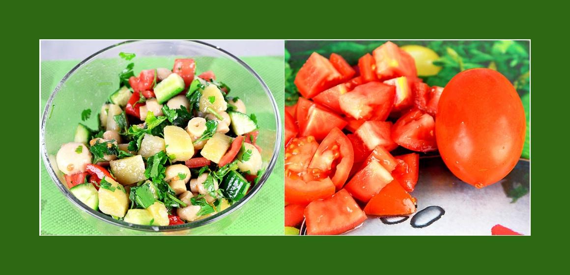 Gurkensalat Tomatensalat