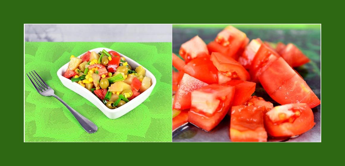 Leichter Kartoffelsalat mit Tomaten