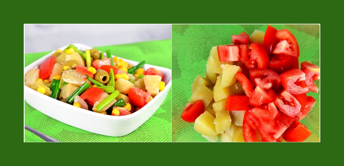 Tomatensalat mit Oliven