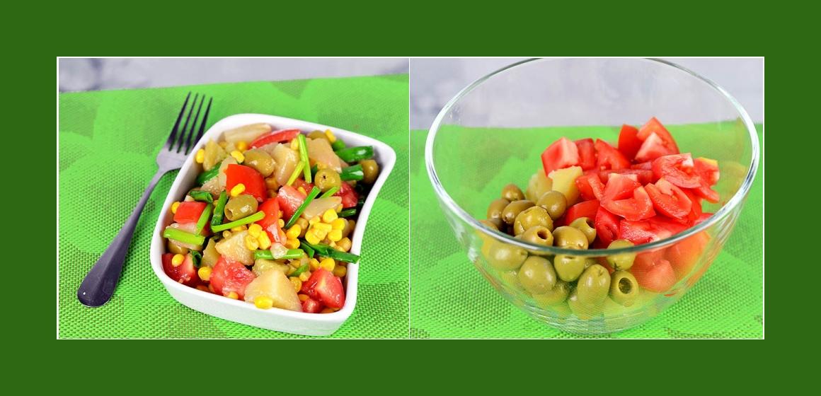 Kartoffelsalat mit Oliven Rezept