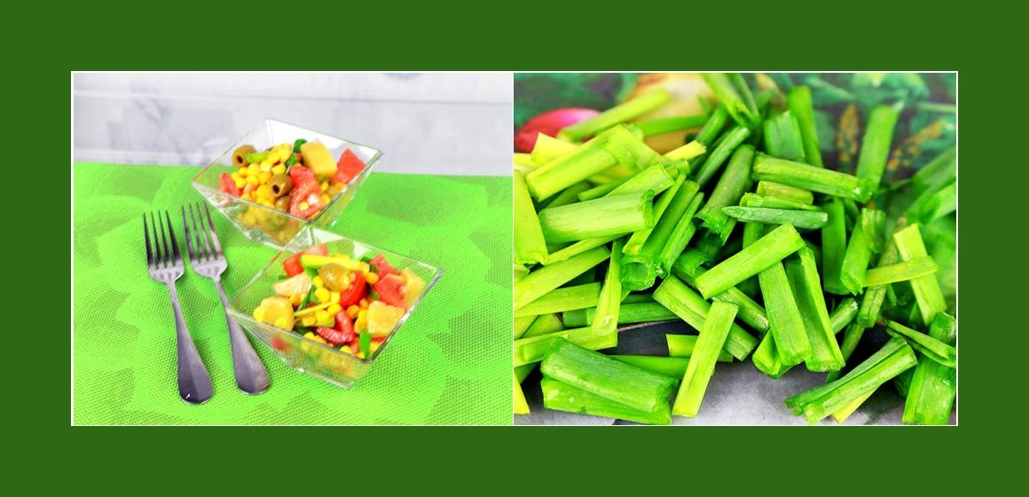 einfacher Gemüsesalat mit Oliven, Tomaten