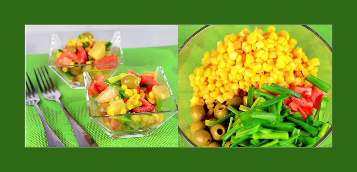 Gemüsesalat zum Grillen Tomatensalat Kartoffelsalat