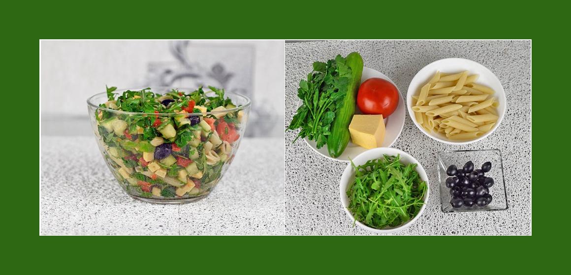 Nudelsalat mit Oliven