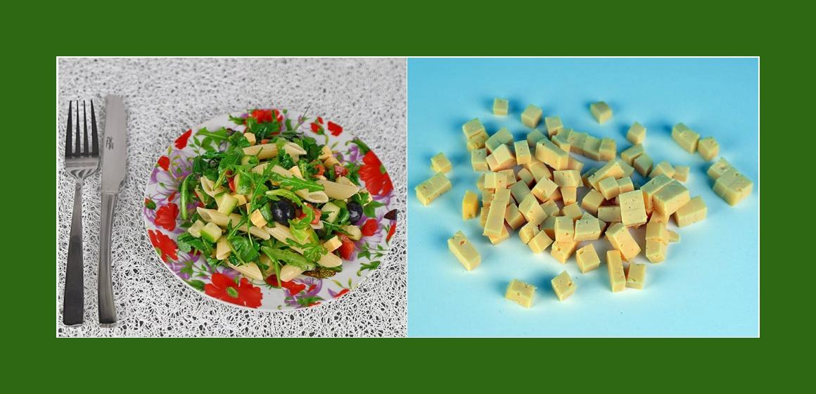 gemischter Gemüsesalat Nudelsalat