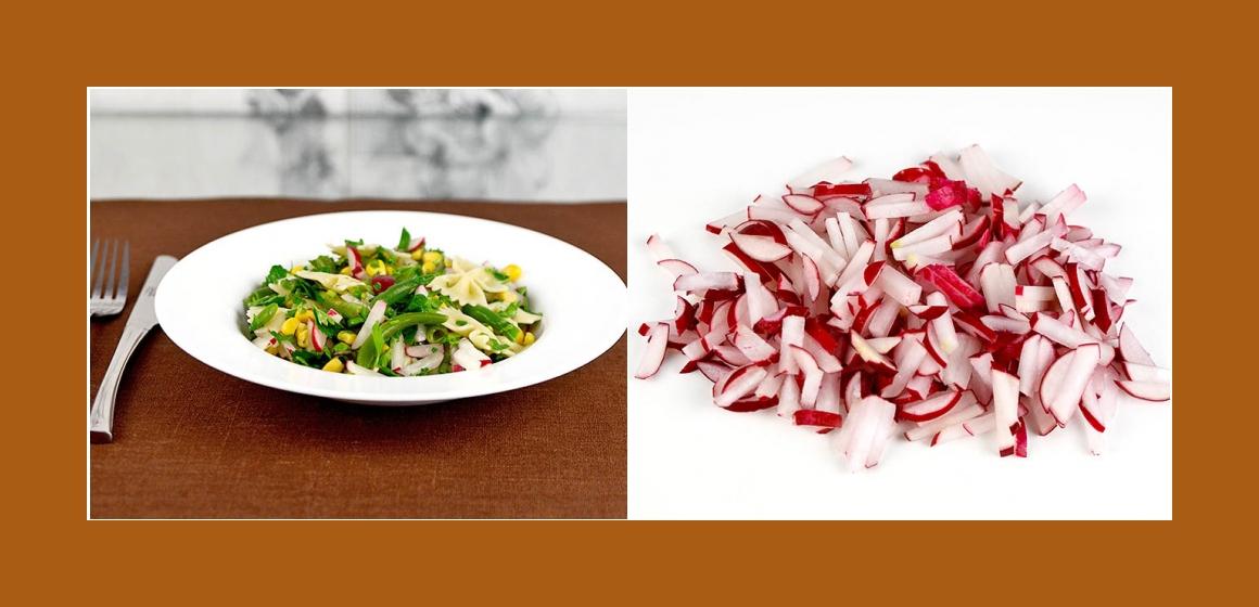 Radieschen-Bohnen-Mais Salat