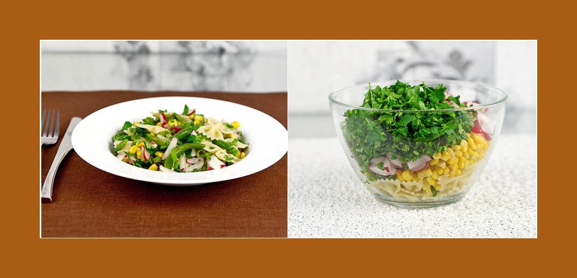 Gemüsesalat mit Petersilien