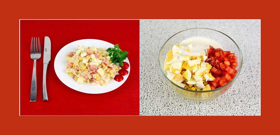 Salat mit Suluguni leichter Salat