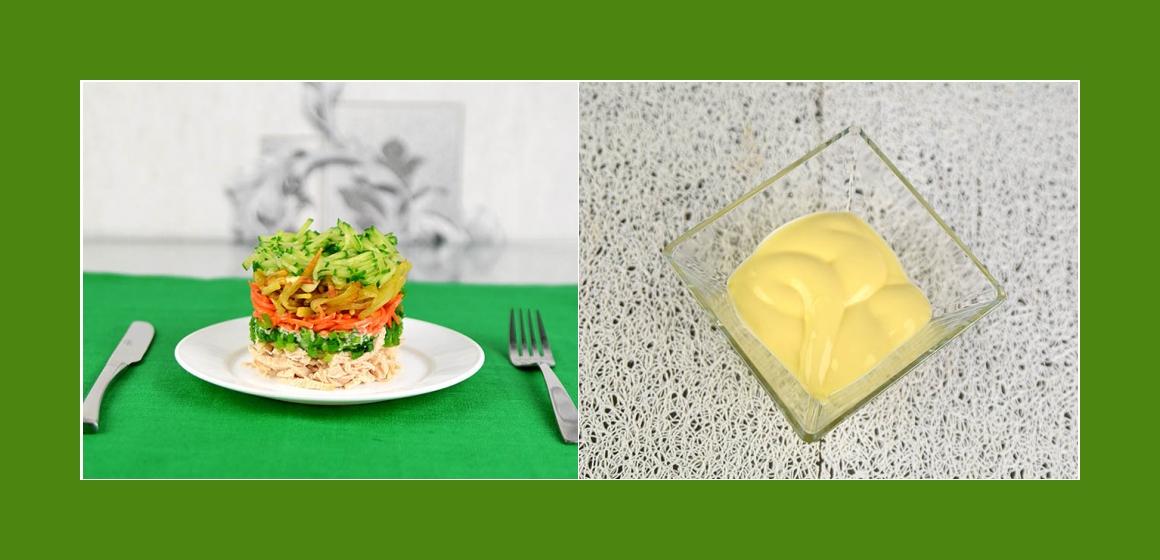 Salat mit Mayonnaise