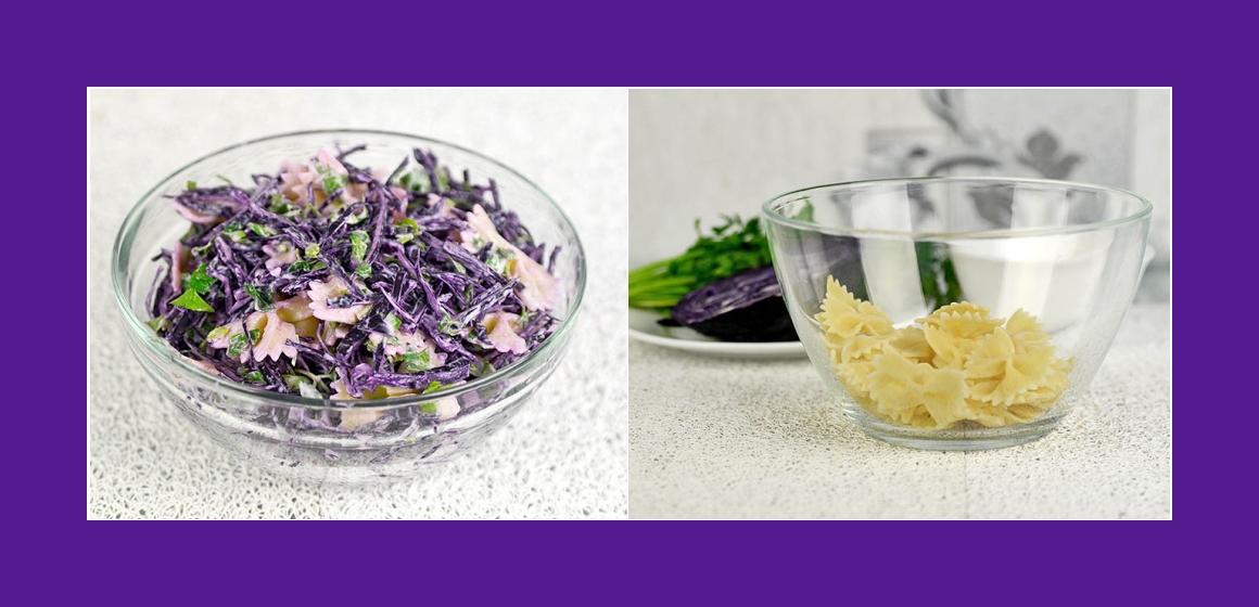 Nudelsalat gemischter Salat