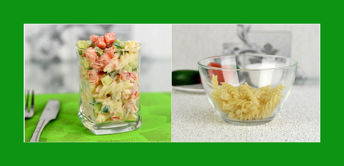 Nudel-Tomatensalat leichter Salat