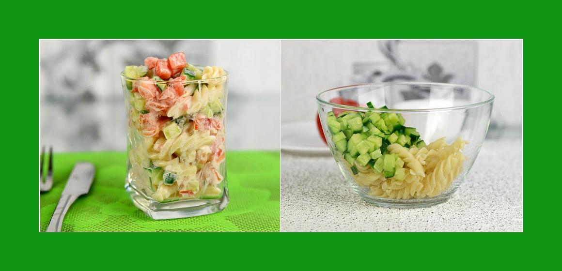Gemüsesalat Sommersalat Spaghetti-Salat