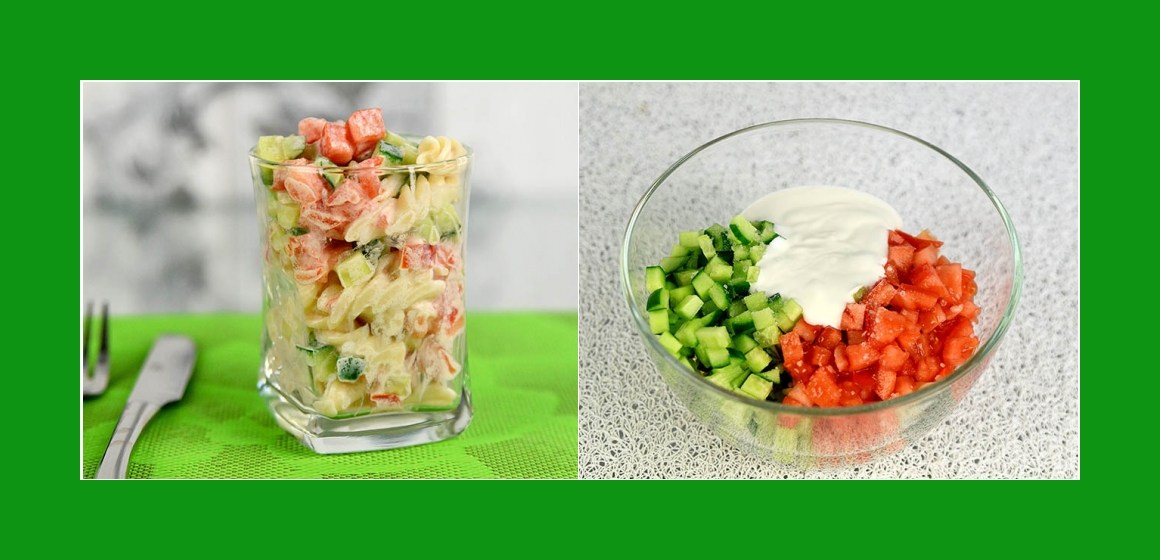 Salat mit Mayonnaise Sommersalat leichter Salat