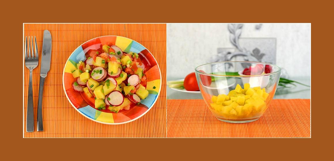 Sommersalat Radieschen-Schnittlauch-Kartoffelsalat