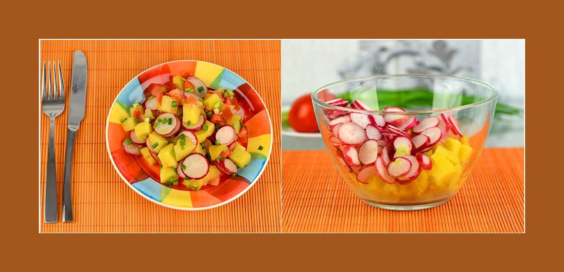 Radieschen-Tomatensalat