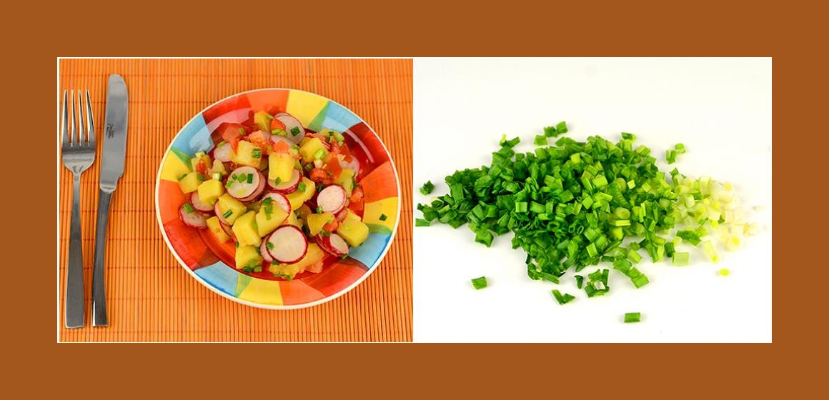 Gemüsesalat Kartoffel-Tomatensalat