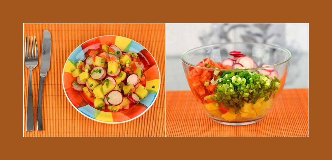 leichter Salat einfacher Sommersalat