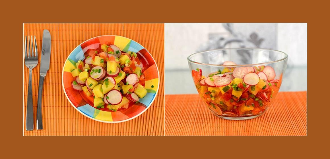 leckerer Salat Gemüsesalat Kartoffelsalat