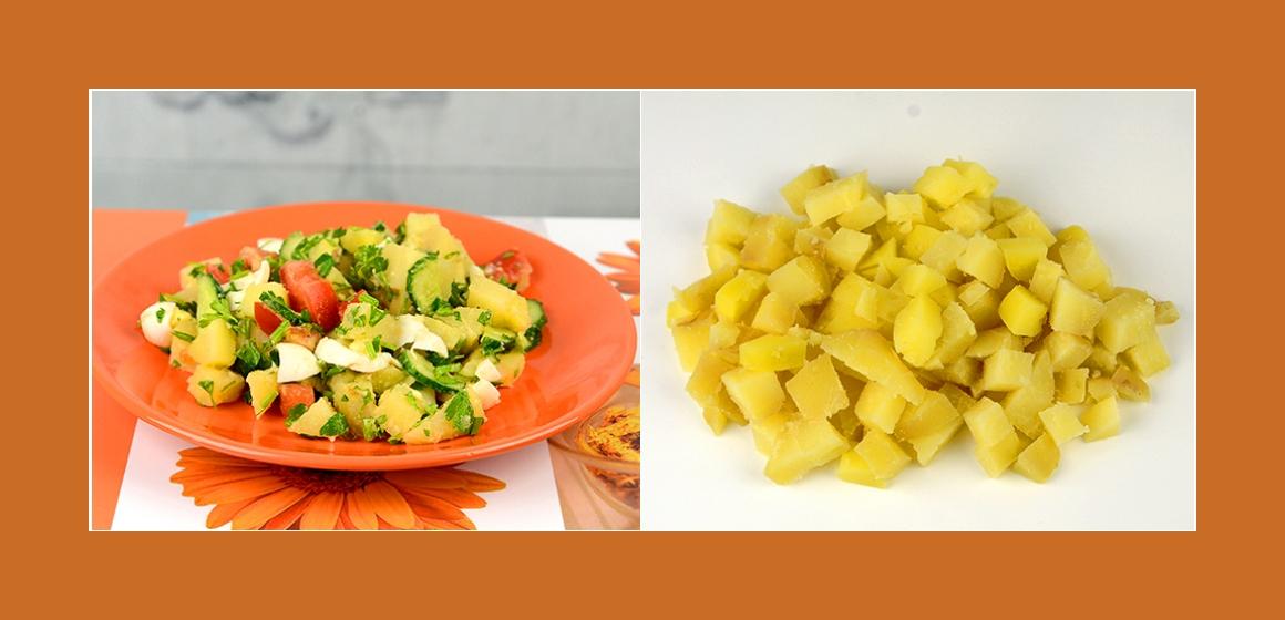 Kartoffelsalat Gurkensalat