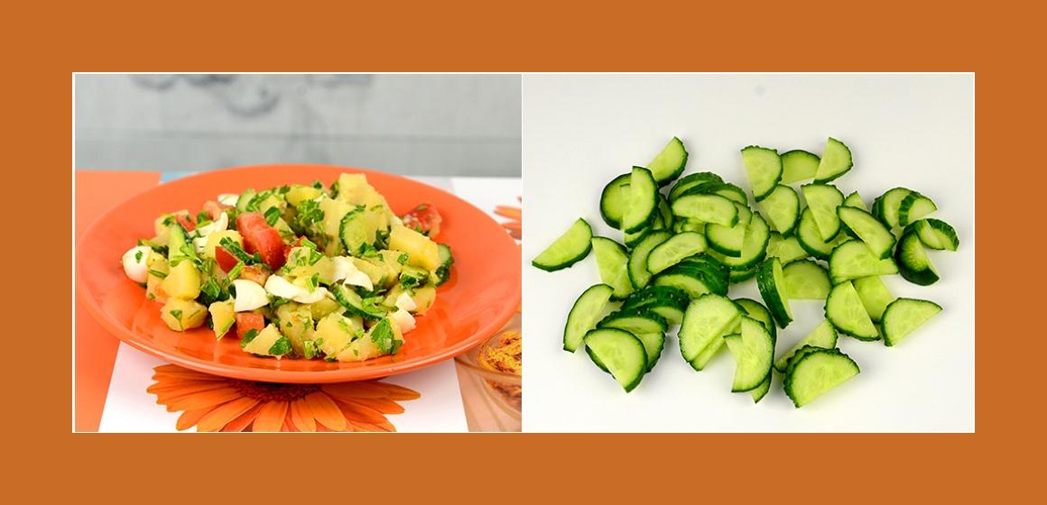 Tomaten-Gurken-Salat gemischter Salat