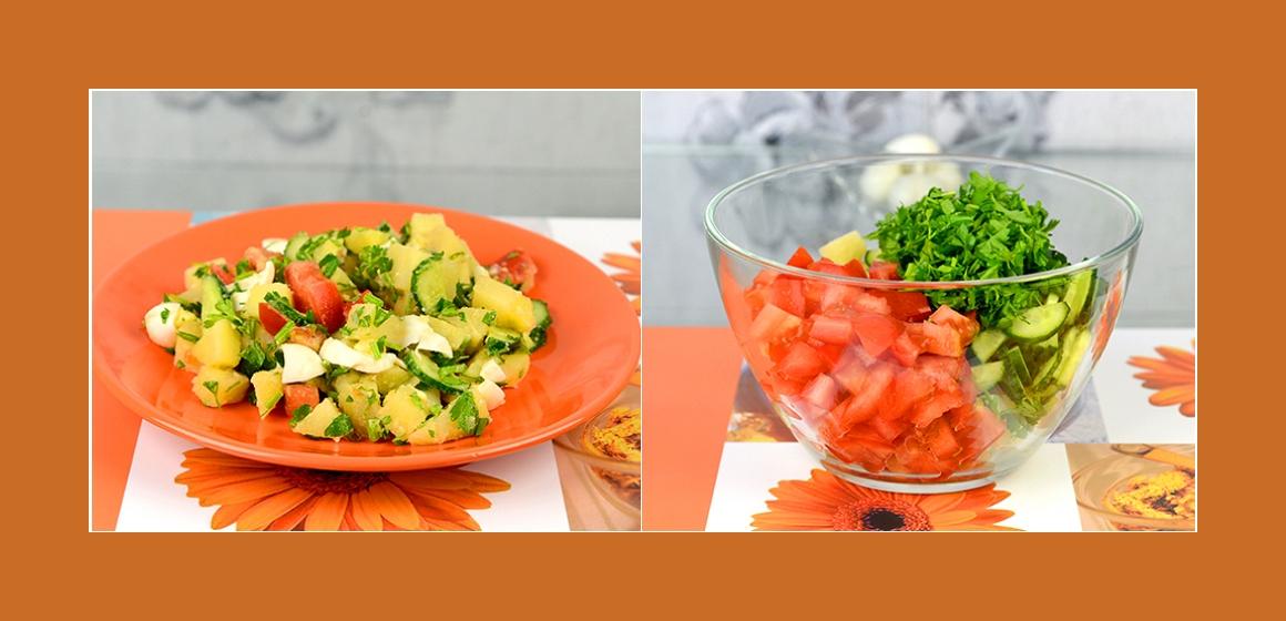 Gemüsesalat mit Eiern bunter Salat