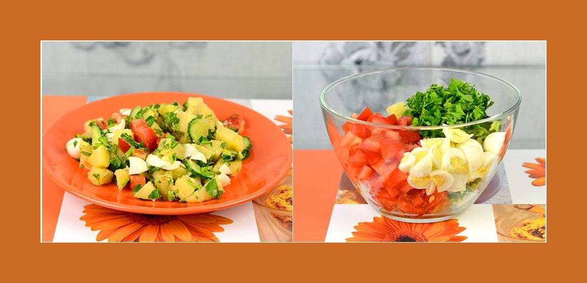 einfacher Gemüsesalat gemischter Salat