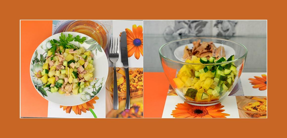 Kartoffel-Gurken-Hänchensalat