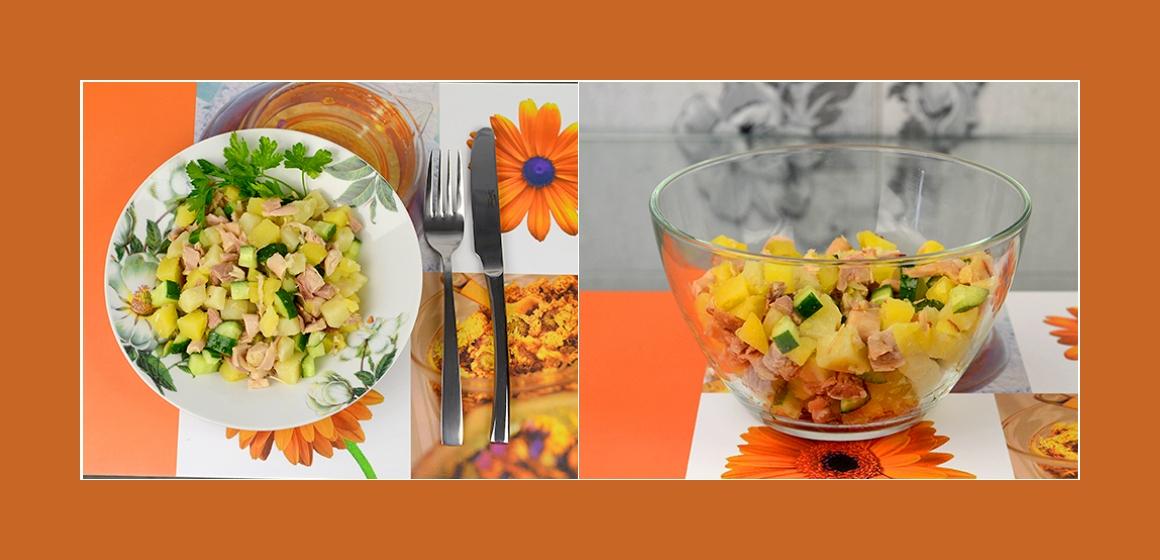 schmackhafter Salat Gemüsesalat Kartoffelsalat