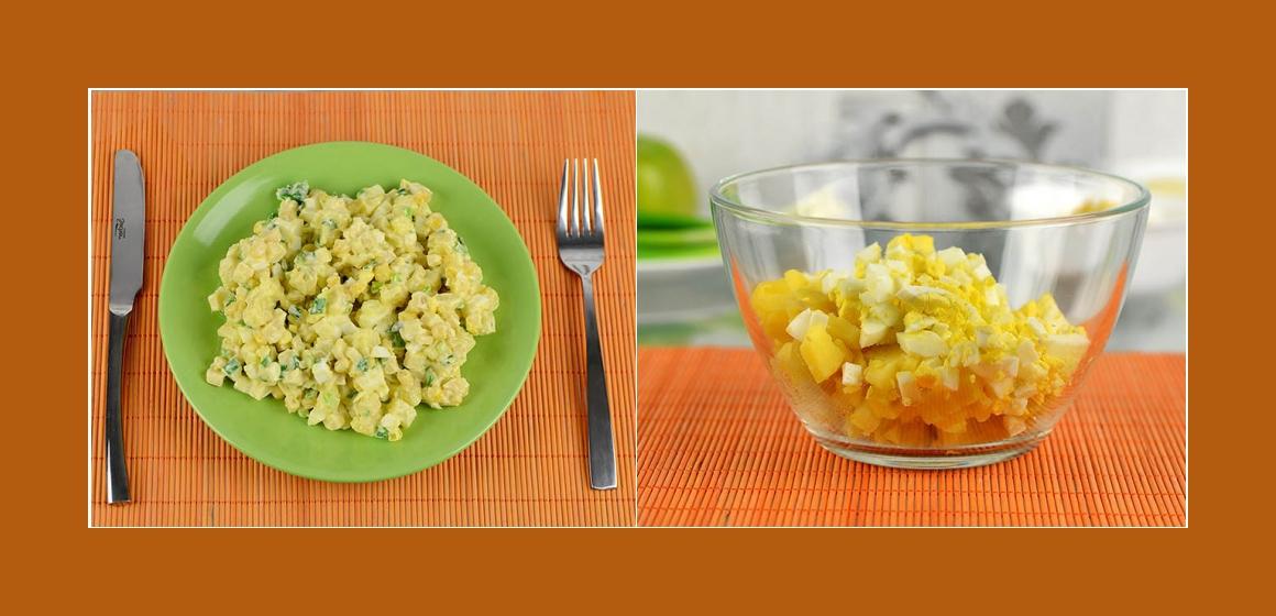 Kartoffel-Eier-Mais-Salat