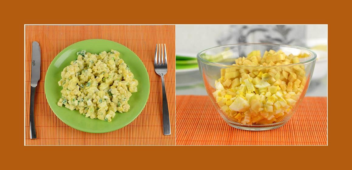einfacher Salat Kalorien Eier Mais