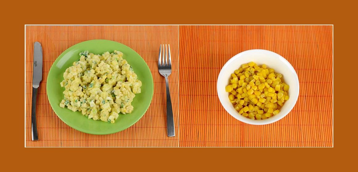 leichter Salat Mais-Kartoffelsalat