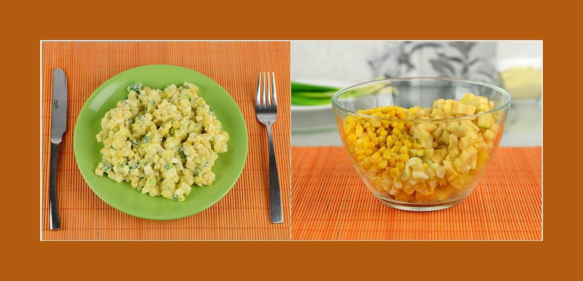 gemischter Salat einfacher Salat Mais