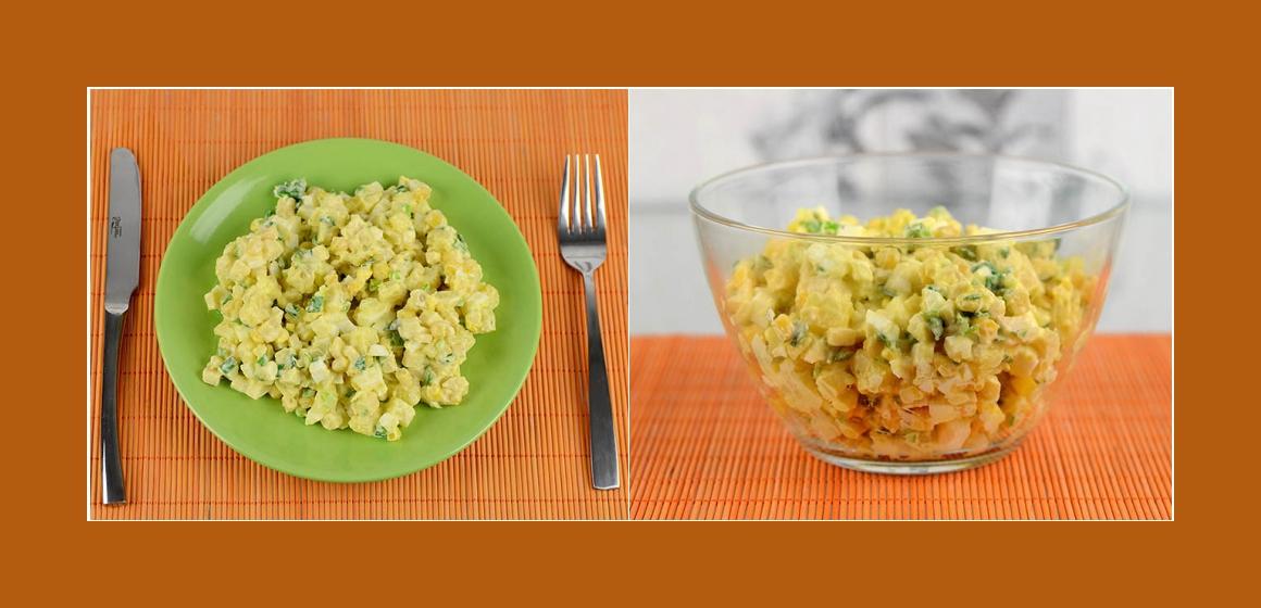 einfacher Kartoffel-Mais-Apfelsalat