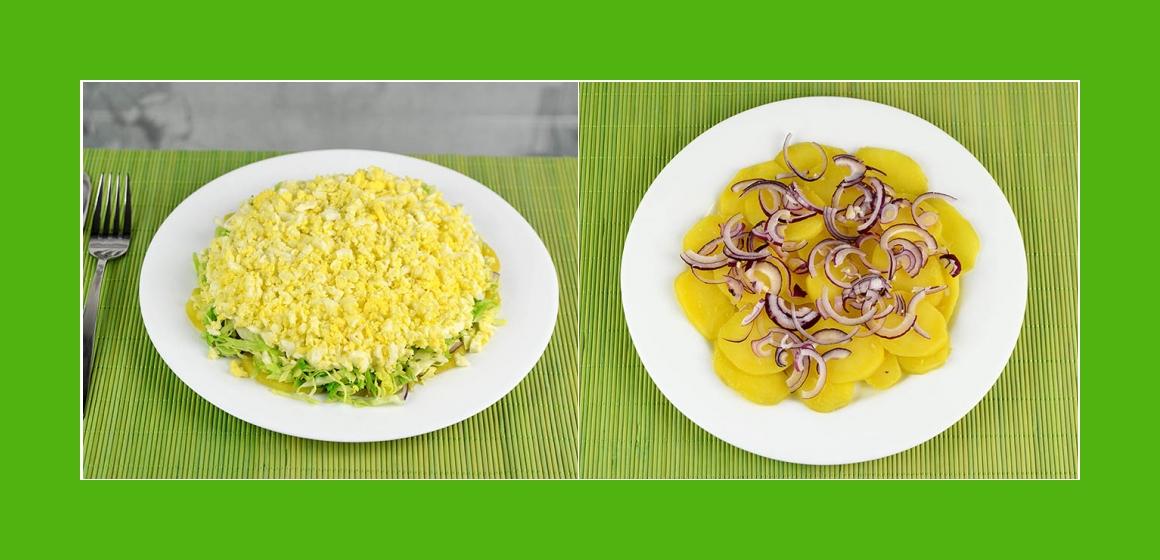 Gemüsesalat mit Eiern