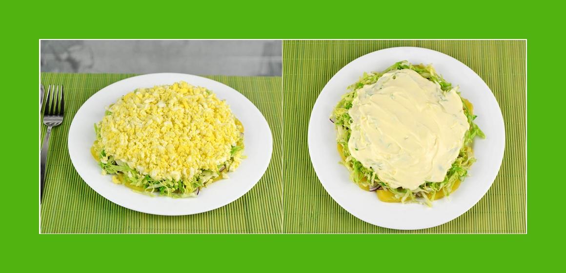 Gemüsesalat mit Mayonnaise