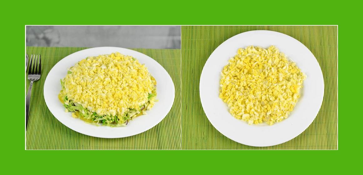 gemischter Kohl-Eier-Kartoffelsalat