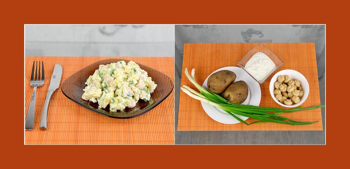 Herzhafter Kartoffel-Pilzsalat mit Schnittlauch