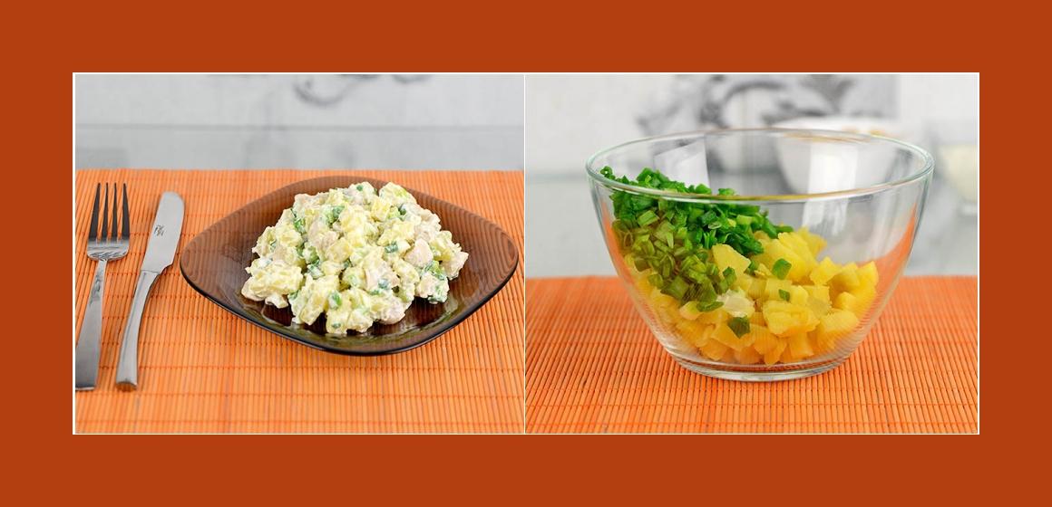 leichter Salat Kartoffelnsalat mit Champignons