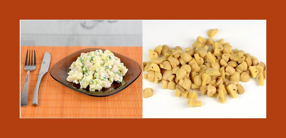 gemischter Salat Kartoffel-Champignonssalat