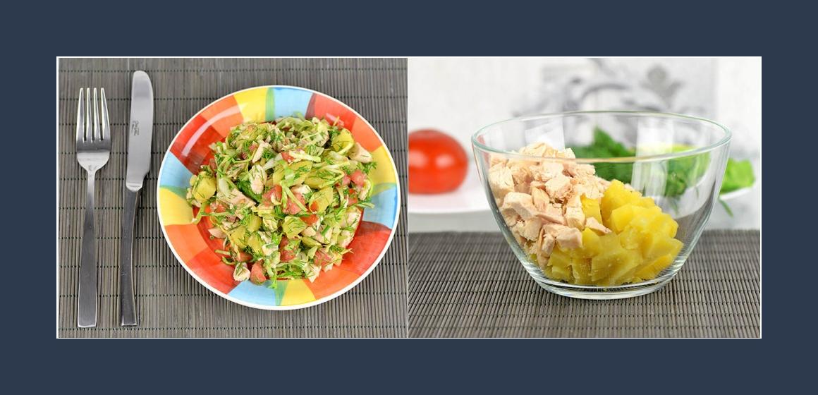 sanfter Salat Kohl-Kartoffelsalat