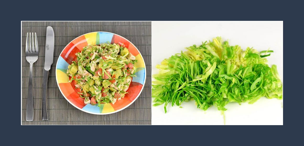 Weißkohlsalat mit Hänchen Kalorien