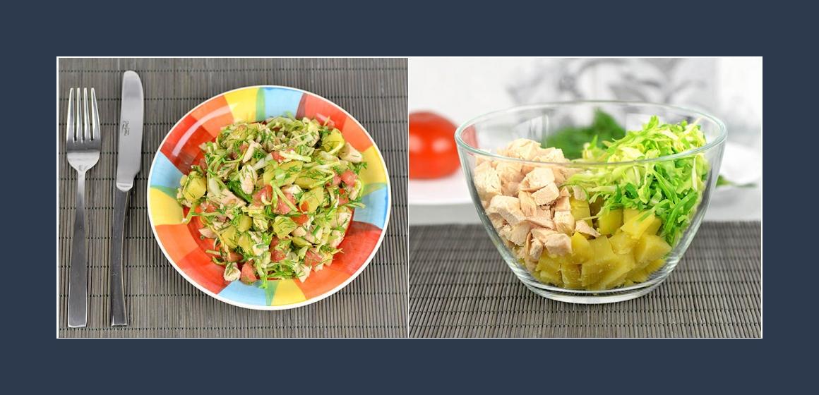 gemischter Salat Kartoffelsalat Kohlsalat