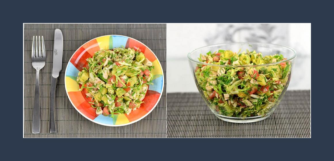 gemischter Salat leckerer Salat mit Dill