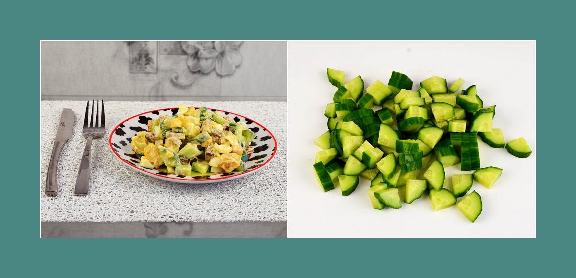 Gurkensalat Gemüsesalat Sommersalat